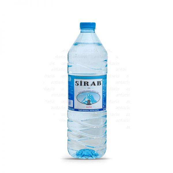 Mineral su qazsız 0.5lt plastik qabda Sirab