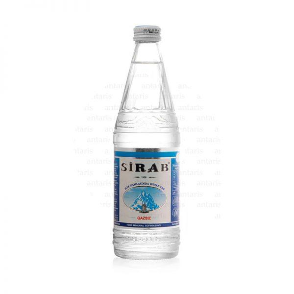 Mineral su qazsız 0.5lt şüşə qabda Sirab