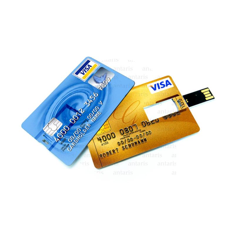 USB fləşkart kredit kartı formasında plastik 8gb qutulu AP833011