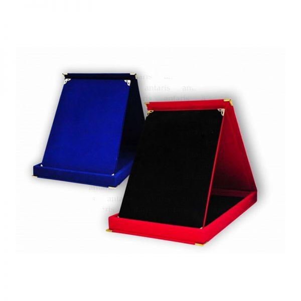 Plaket sadə 15x20sm qırmızı mavi PC-02