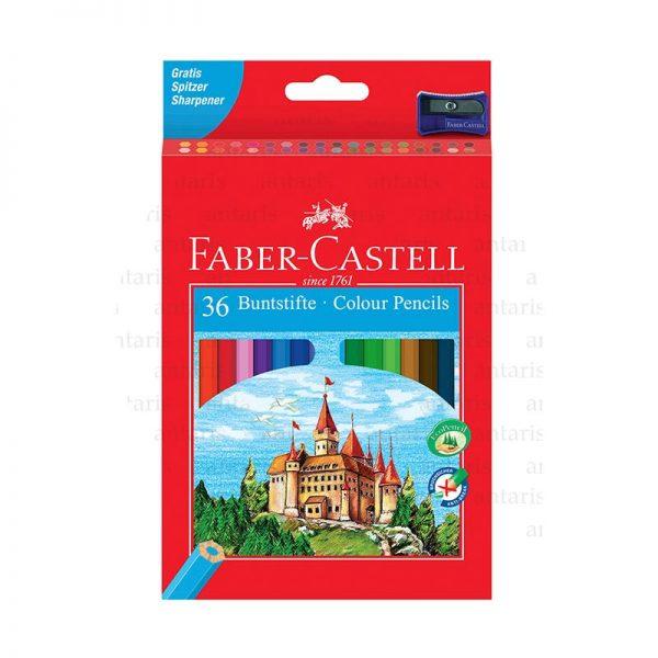 Karandaş 36rəng + qələm yonan Faber-Castell