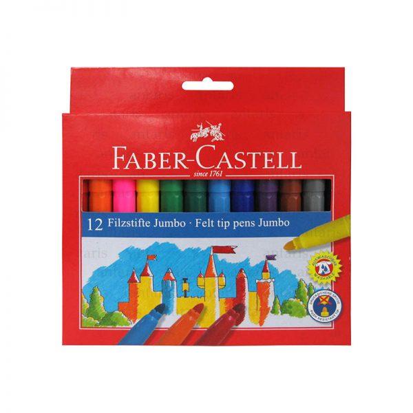 Flomaster Jumbo 12 rəng Faber-Castell