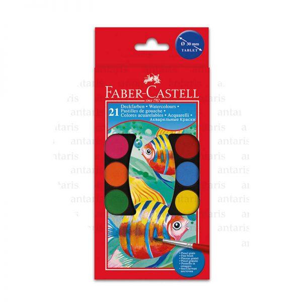 Akvarel boya 21rəng + fırça Faber-Castell
