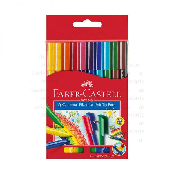 Flomaster 10 rəng Faber-Castell