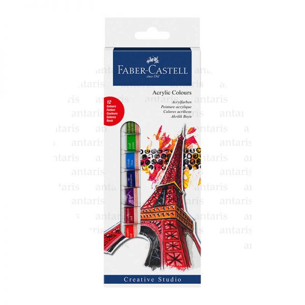 Boya akril 12rəng Faber-Castell