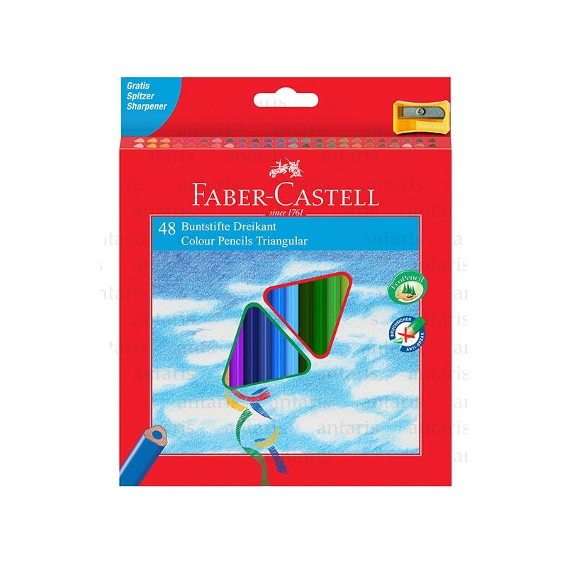 Karandaş 48rəng + qələm yonan Faber-Castell