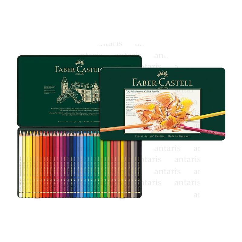 Karandaş 36rəng metal qutu Polychromos Faber-Castell