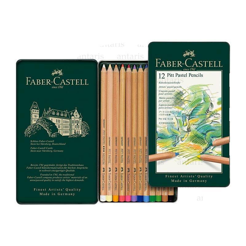 Karandaş 12rəng pastel Faber-Castell