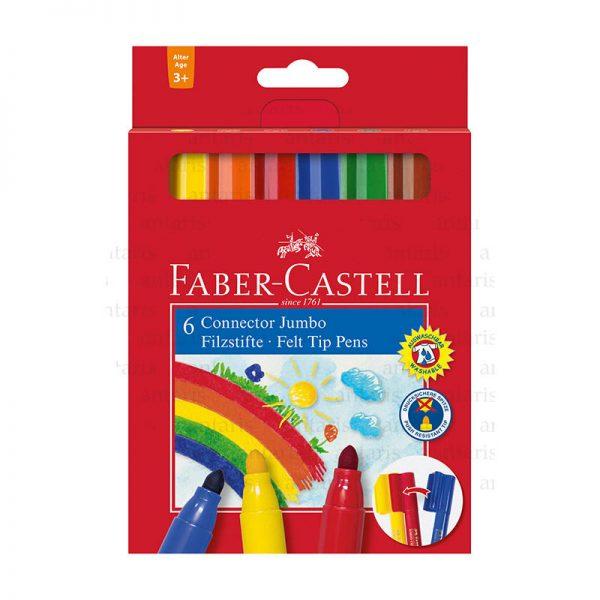 Flomaster 6 rəng Faber-Castell