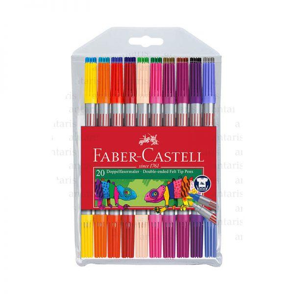 Flomaster 20 rəng iki tərəfli Faber-Castell