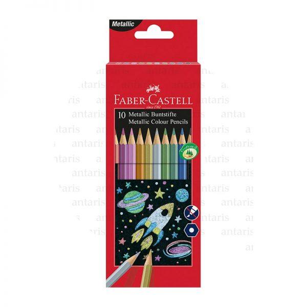 Karandaş 10rəng metal rənglər Faber-Castell