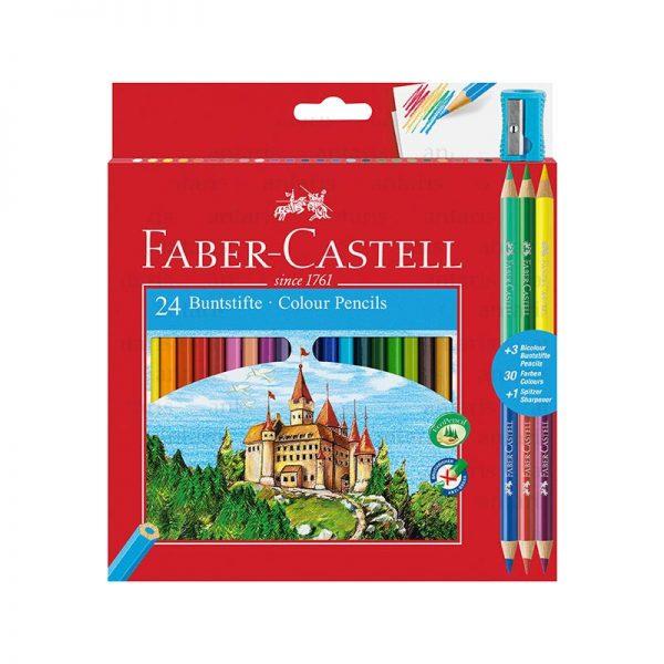Karandaş 24rəng + 3 Faber-Castell