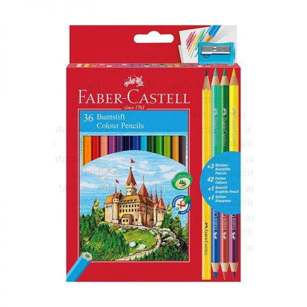 Karandaş 36rəng + 3 Faber-Castell